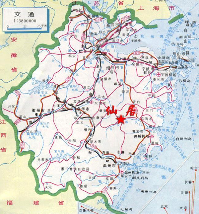 浙江省交通地图_浙江省交通地图高清版大图片