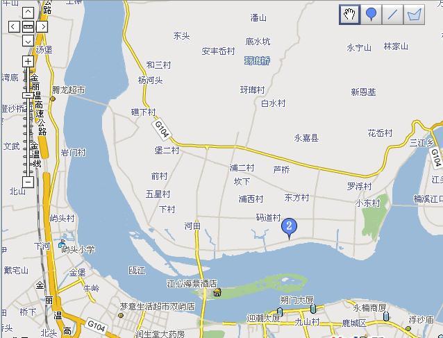 温州楠溪江旅游交通地图